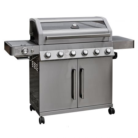 Grillstream Gourmet 6 Burner Hybrid with Steak Shelf - Stainless Steel - image 1