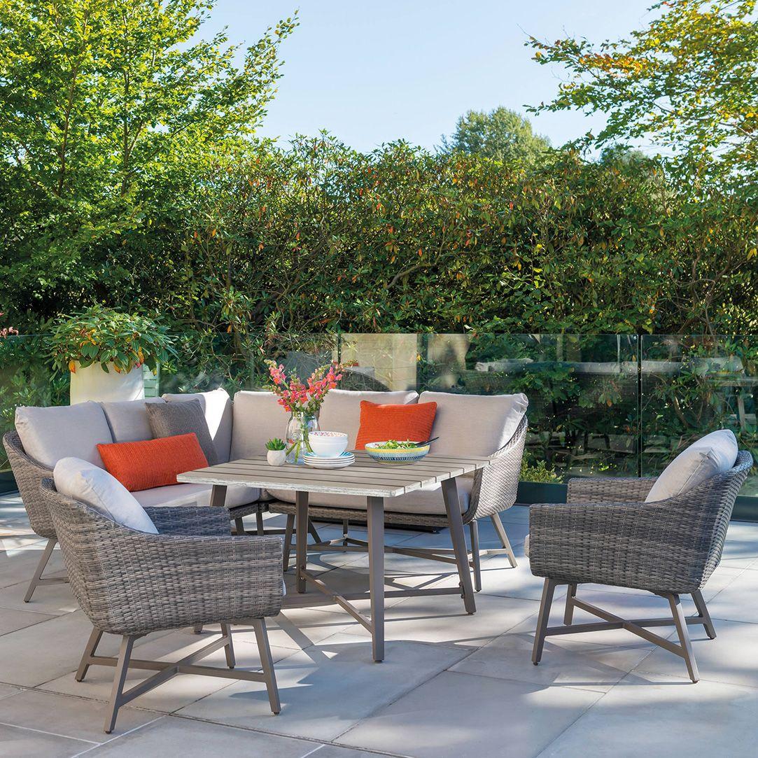 Kettler LaMode Corner Set Stone Top Table - Flowerland Home and