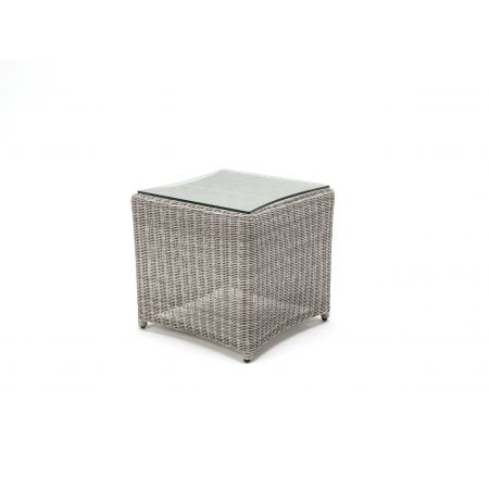 Kettler Wicker side Table Whitewash