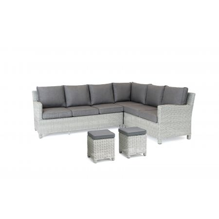 Palma Casual Dining Corner Set (LH) WHITEWASH