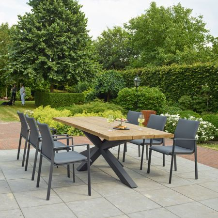 Timor Six Seat Dining Set - image 1